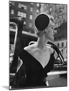 Jeweled Stay Put Cocktail Hat at Reckless Angle by Nina Leen