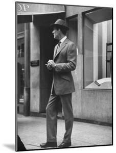 Man Modeling Executive Fashion by Nina Leen