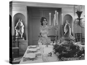 Mercedes de Areilza, Daughter of Spanish Ambassador to Un, Preparing for Dinner Party by Nina Leen