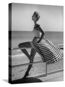 Miami Fashions, Model in Suitable Settings For Afternoon and Casual Play Clothes by Nina Leen