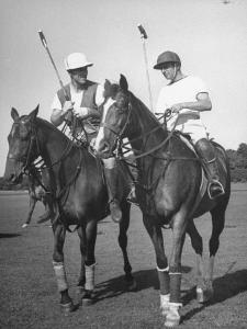 Michael Phipps Talking to a Fellow Polo Player by Nina Leen