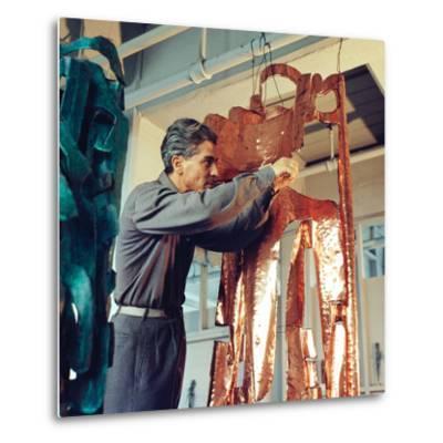 Mirko Basaldella, Post Wwii Modern Sculptor, Visits Harvard University During U.S. Tour, 1958