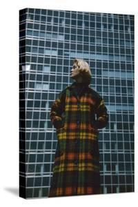 Model in a Long, Wool Coat with Plaid, New York, New York, 1954 by Nina Leen