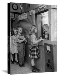 Model Post Office a Teacher Set Up in the Classroom for the Children to Learn About the Mail System by Nina Leen