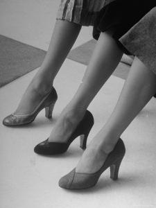 Models Displaying Different Styles of Shoes by Nina Leen