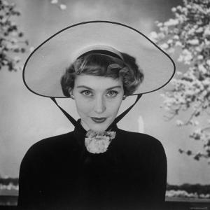New French Hat For Spring by Nina Leen