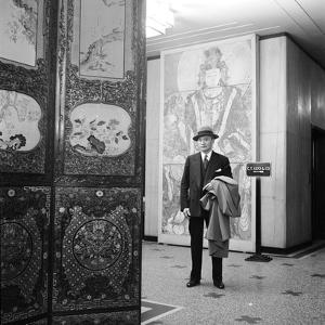Portrait of Art Dealer C.T. Loo (Ching Tsai Loo, 1880-1957) a Specialist in Chinese Artworks, 1950 by Nina Leen