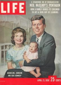 Sen. John F. Kennedy and Wife Jacqueline Showing off Newborn Caroline Kennedy, April 21, 1958 by Nina Leen