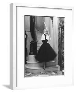 Short Wrap, Worn with Short Ball Gowns, Showing Off the Wearer's Waist by Nina Leen