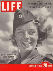 Swedish Red Cross Worker Ingrid Jarnald, September 25, 1950 by Nina Leen