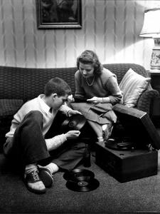 Terry Williams and Beverly Lanphere are teenagers who are going steady by Nina Leen