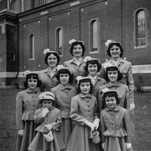 The Ten Daughters Modelling their New Easter Wear by Nina Leen