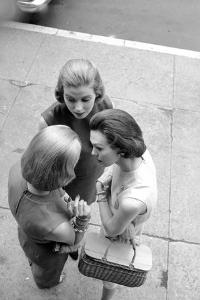 Three Women with Page Boy Hair Styles, New York, 1955 by Nina Leen
