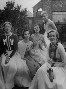 Women Modeling Decorated Sweaters by Nina Leen