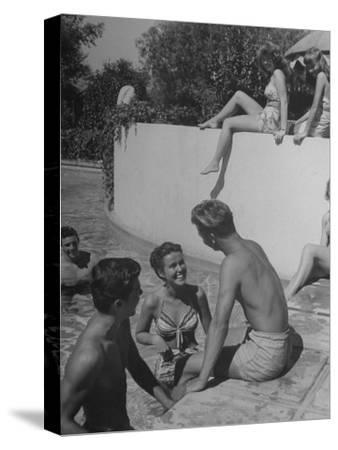 Young People Enjoying the Swimming Pool at Home of Herbert Stothart