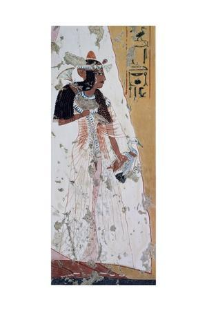 Young Woman with Duck, Copy of Fresco from Tomb of Ipouy, Thebes