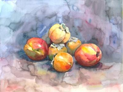 Peaches and Persimmons by Nina