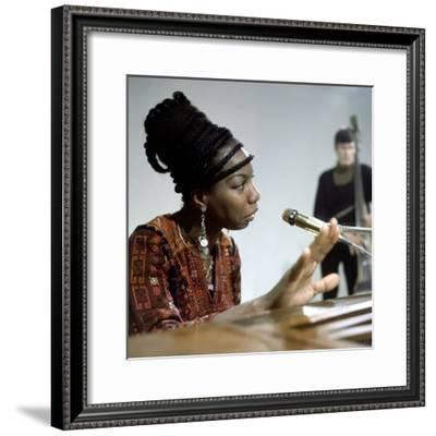 Nina Simone--Framed Photo