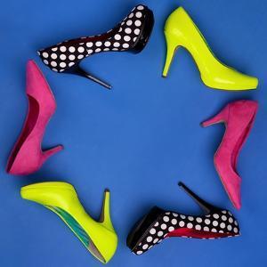 Colorful High Heels Frame by NinaMalyna