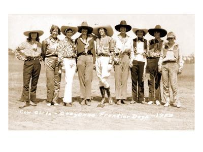 Nine Cowgirls--Art Print