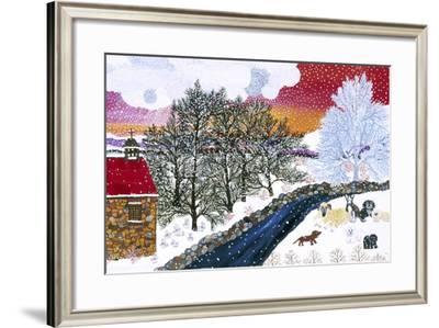 Nine Dog Noel-Kristin Nelson-Framed Premium Giclee Print