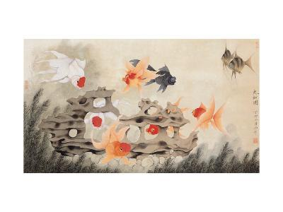 Nine Fish-Hsi-Tsun Chang-Giclee Print