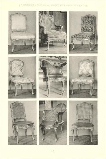 Nine Louis XV Chairs--Art Print