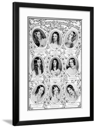 Nine of Queen Victoria's Bridesmaids, 10 February 1840--Framed Giclee Print