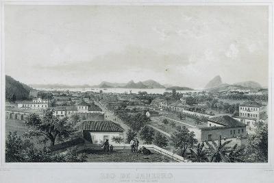 Nine Panoramic Views of Rio De Janeiro: Catette E Entrada Da Barra, 1862-Philippe and Ciceri, Eugene Benoist-Giclee Print
