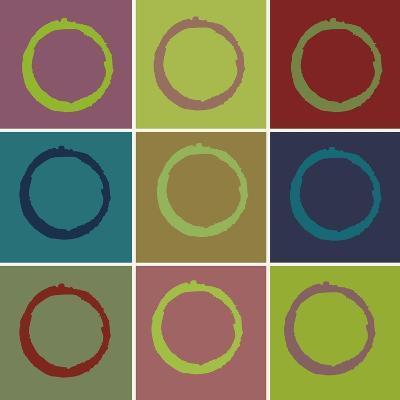 Nine Patch Circle & Colors-Ricki Mountain-Art Print