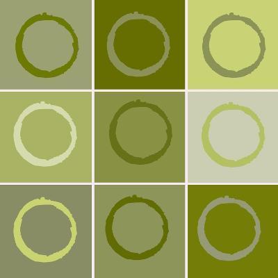 Nine Patch Circles Of Life-Ricki Mountain-Art Print