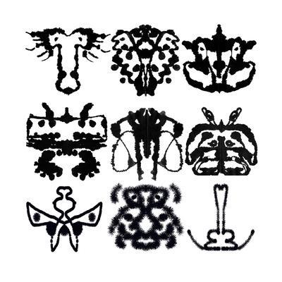 Nine Rorschach Test-akova-Art Print