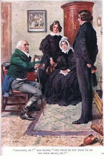 """""""Nineteen, Eh!"""" Said Ralph, """"And What Do You Mean to Do for Your Bread Sir!""""-Charles Edmund Brock-Giclee Print"""