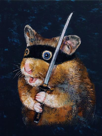 Ninja Hamster-Michael Creese-Art Print