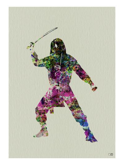 Ninja Watercolor 2-NaxArt-Art Print