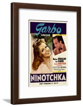 Ninotchka, Greta Garbo, Melvyn Douglas, 1939--Framed Photo