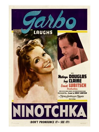 Ninotchka, Greta Garbo, Melvyn Douglas, 1939--Photo