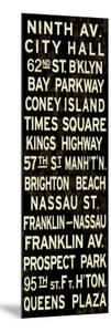 Ninth Av. Weathered Sign
