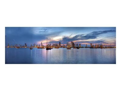 Sunset Panorama Harbor