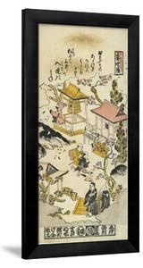 Evening Bell at Miidera Temple, C. 1730 by Nishimura Shigenaga