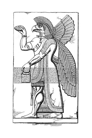 Nisroch, Assyrian God, Mid 19th Century-Joseph Bonomi the Younger-Giclee Print