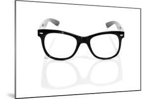 Black Glasses On A White Background by nito