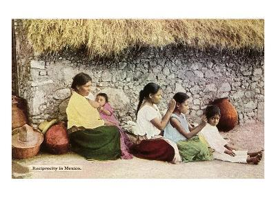 Nitpicking Beggars, Mexico--Art Print
