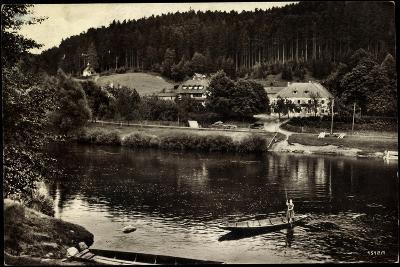 Nittenau, Gaststätte Mariental Am Regen, Boot--Giclee Print