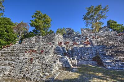 Nivel B, the Acropolis, Kinichna, Mayan Archaeological Site, Quintana Roo, Mexico, North America-Richard Maschmeyer-Photographic Print