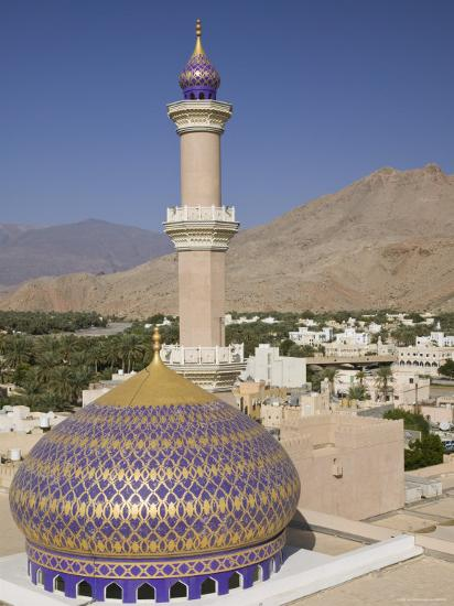 Nizwa Mosque, Western Hajar Mountains, Oman-Walter Bibikow-Photographic Print