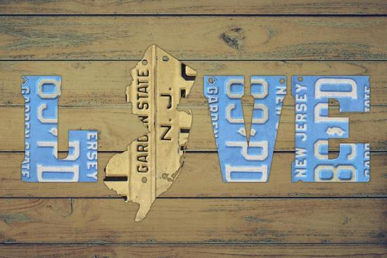 NJ State Love-Design Turnpike-Giclee Print