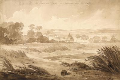 No 1 Hougomont the House and Farme Du - Gourman from the Right', 1815-Denis Dighton-Giclee Print
