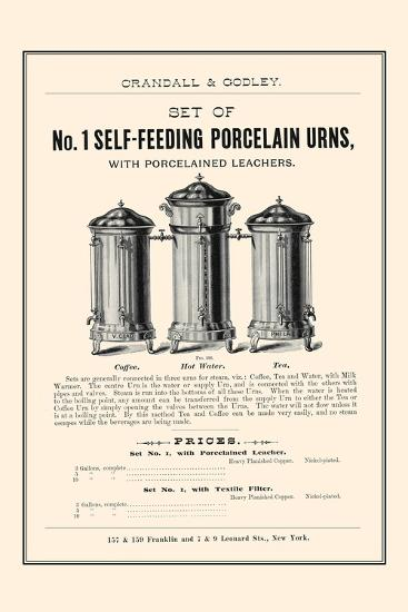No. 1 Self-Feeding Porcelain Urns--Art Print
