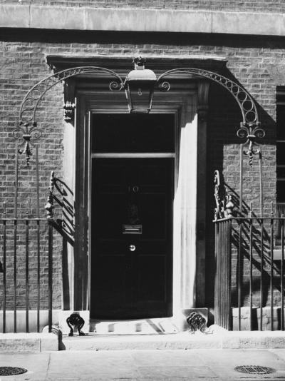 No 10 Downing Street Doorway--Photographic Print